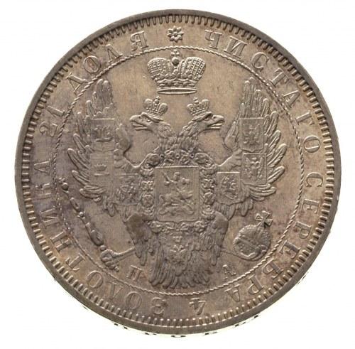 rubel 1852 / П-А, Petersburg, Bitkin 229, delikatna pat...