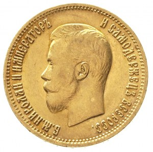 10 rubli 1899 / А-Г, Petersburg, złoto 8.60 g, Kazakov ...