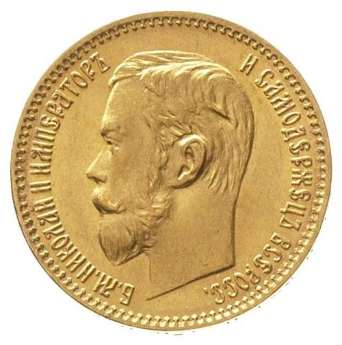 5 rubli 1898 / А-Г, Petersburg, złoto 4.30 g, Kazakov 1...