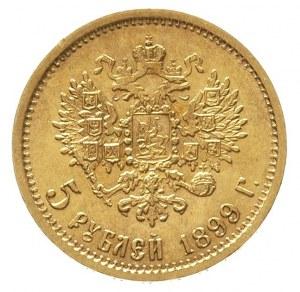 5 rubli 1899 / Ф-З, Petersburg, złoto 4.30 g, Kazakov 1...