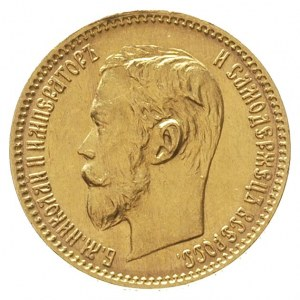 5 rubli 1900 / Ф-З, Petersburg, złoto 4.30 g, Kazakov 2...