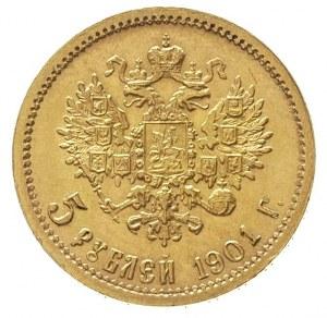 5 rubli 1901 / Ф-З, Petersburg, złoto 4.30 g, Kazakov 2...
