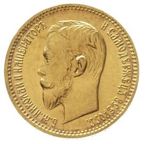 5 rubli 1903 / A-P, Petersburg, złoto 4.30 g, Kazakov 2...