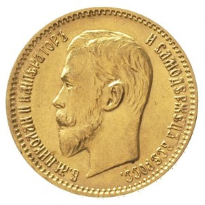 5 rubli 1910 / Э-Б, Petersburg, złoto 4.29 g, Kazakov 3...