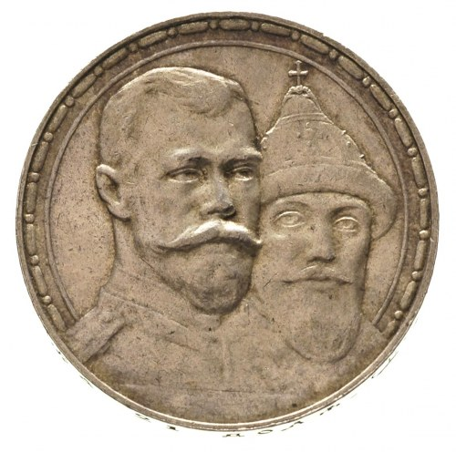 rubel 1913 / B-C, Petersburg, 300-lecie dynastii Romano...