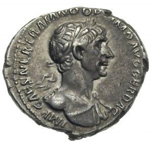 Trajan 98-117, denar 114-116, Rzym, Aw: Popiersie cesar...