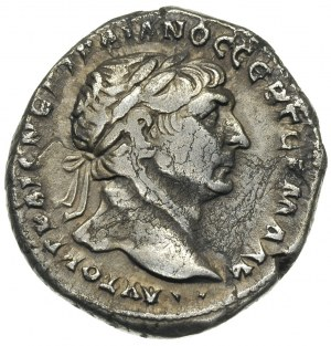 Trajan 98-117, Syria, tetradrachma bilonowa 114-115, An...