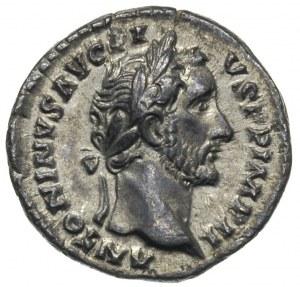Antoninus Pius 138-161, denar 155-156, Rzym, Aw: Popier...