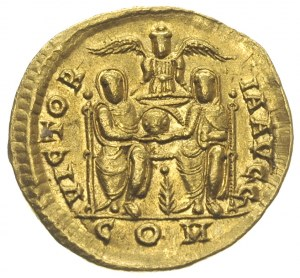 Gracjan 367-383, solidus 378-383, Mediolan, Aw: Popiers...