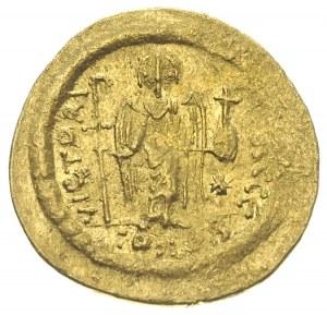 Justynian I 527-560, solidus 542-552, Konstantynopol, o...