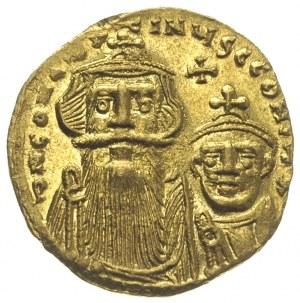Konstans II i Konstantyn IV 654-688, solidus 654-659, K...