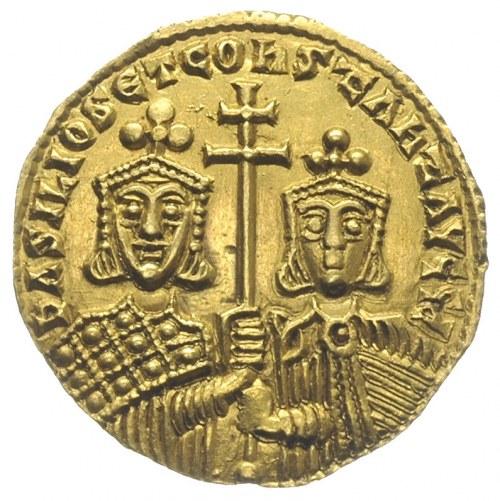 Bazyli I i Konstantyn 868-879, solidus 868-879, Konstan...