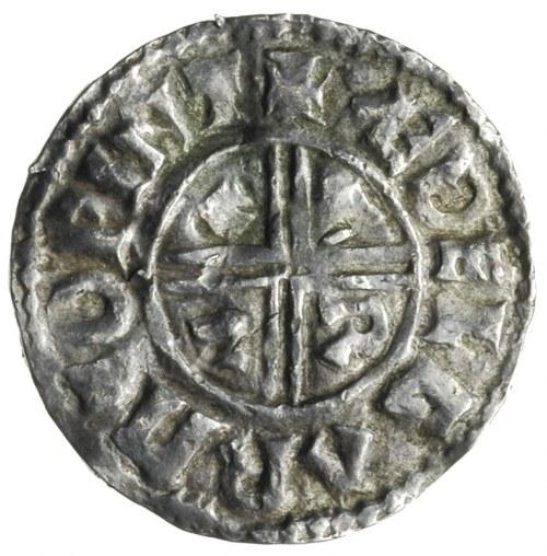Aethelred II 978-1016, denar z lat 991-997, mennica Win...