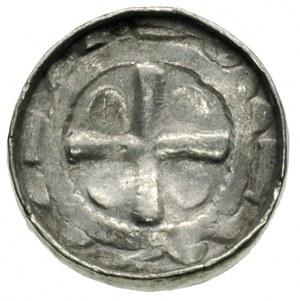 Saksonia, biskupi sascy, denar krzyżowy, Aw: Krzyż pros...