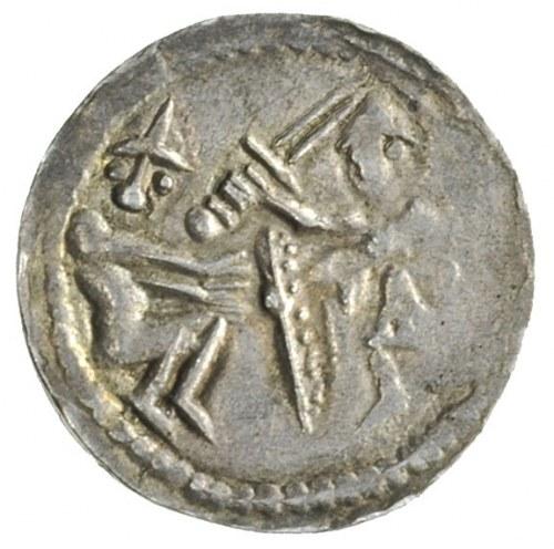 Władysław Wygnaniec 1138-1146, denar, Aw: Rycerz z miec...