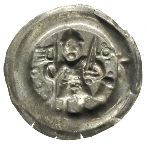 Leszek Biały 1202-1227 lub następcy, brakteat; Stojący ...