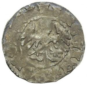 Władysław Jagiełło 1386-1434, półgrosz koronny, Aw: Kor...