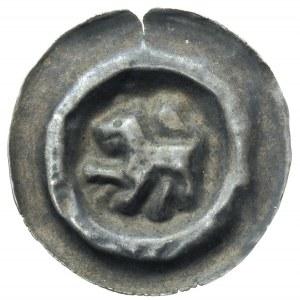 szeroki brakteat (2 poł. XIII w); Lew w koronie, Fbg. 7...