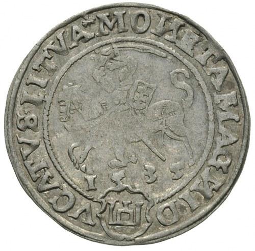 grosz 1535, Wilno, odmiana bez litery pod Pogonią, Ivan...
