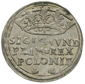 grosz 1545, Kraków, korona płaska i szeroka, bardzo ład...