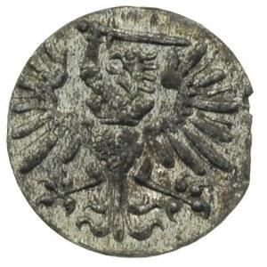 denar 1573, Gdańsk, kartusz tarczy herbowej z 7 łukami,...