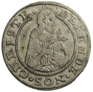 grosz oblężniczy 1577, Gdańsk, moneta bez kawki wybita ...