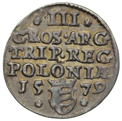 trojak 1579 Olkusz, Iger O.79.3.c R4, T. 10, rzadka mon...