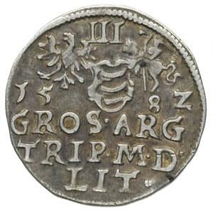 trojak 1582, Wilno. cyfry daty rozstawione wąsko, Iger ...