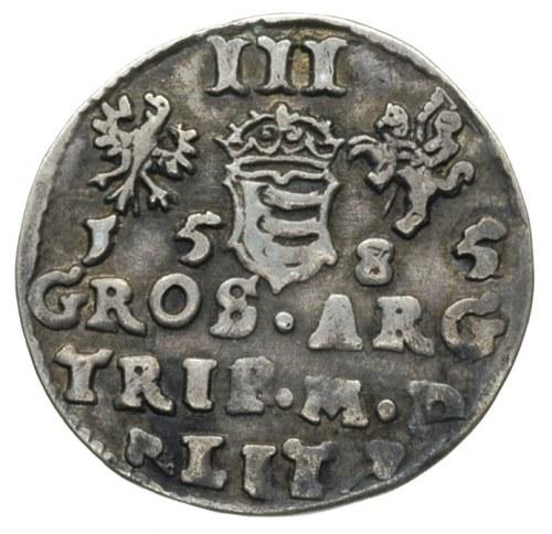 trojak 1585, Wilno, odmiana bez herbu podskarbiego, Ige...