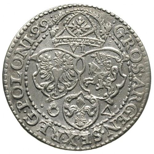 szóstak 1599, Malbork, odmiana z małą głową króla