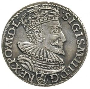 trojak 1594, Malbork, rzadka odmiana z pierścieniem dzi...