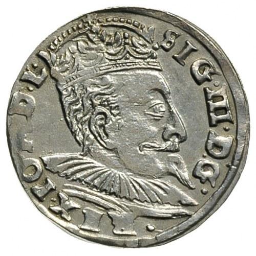trojak 1596, Wilno, na dole herb Chalecki i znak lew, I...