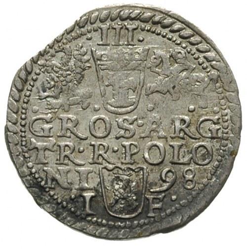 trojak 1598, Olkusz, Iger O.98.1.b, wybity z końcówki b...