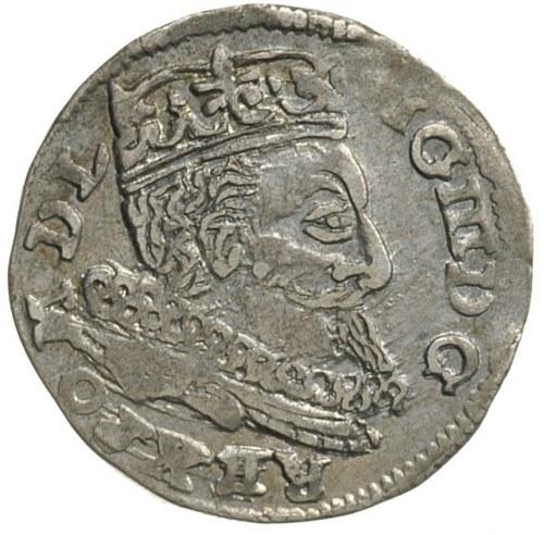 trojak 1598, Lublin, litera L z prawej strony herbu Lew...