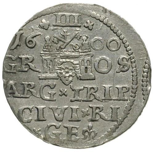 trojak 1600, Ryga, Iger R.00.1.b (R1), niecentrycznie w...
