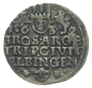 trojak 1632, Elbląg, okupacja szwedzka, emisja miejska ...