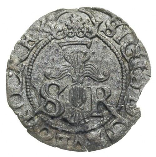 1/2 öre 1598, Sztokholm, Ahlström 23, nieco pęknięty kr...