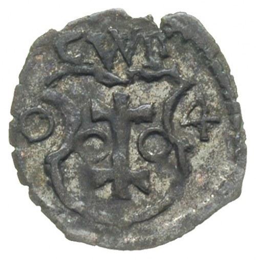 denar 1604, Wschowa, H-Cz. 7420 (R7), znane egzemplarze...