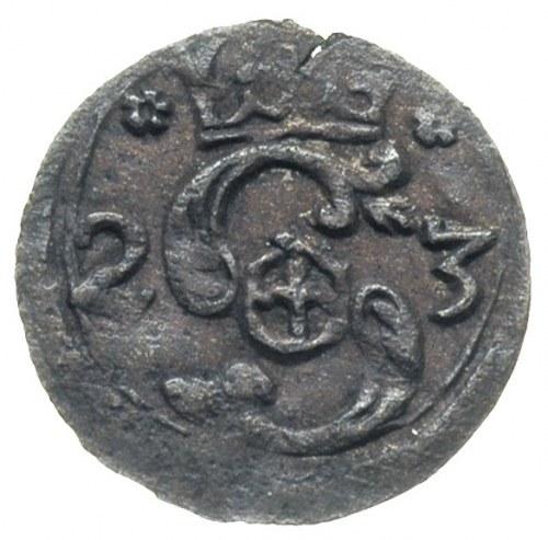 denar 1623, Kraków, ciemna patyna