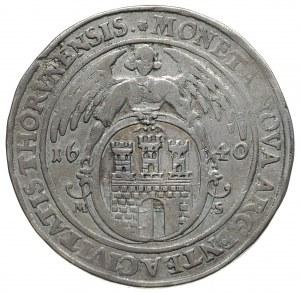 talar 1640, Toruń, srebro 28.48 g, Dav. 4375, T. 10, dr...