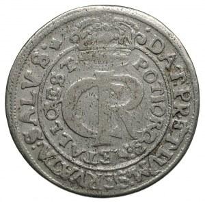 tymf 1663, Lwów, bez liter A-T po bokach tarczy herbowe...