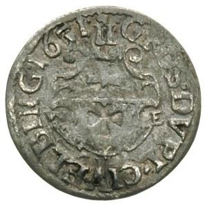dwugrosz 1651, Elbląg, końcówka napisu na awersie PRV, ...