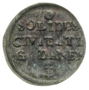 szeląg 1670, Gdańsk, patyna