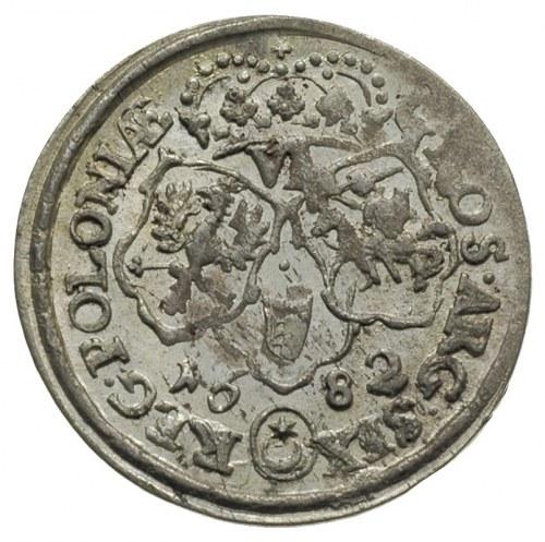 szóstak 1682, Bydgoszcz, na awersie ślad dwukrotnego ud...