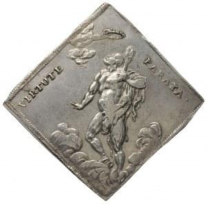 klipa strzelecka talara 1699, Drezno, Aw: Monogram, Rw:...