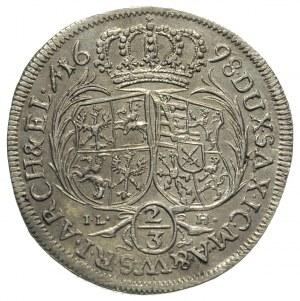 2/3 talara (gulden) 1698, Drezno, Merseb. 1418, Dav. 81...