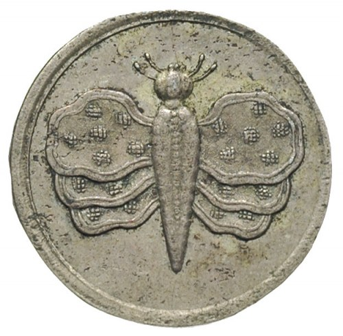 grosz \z motylem\ bez daty (1709)