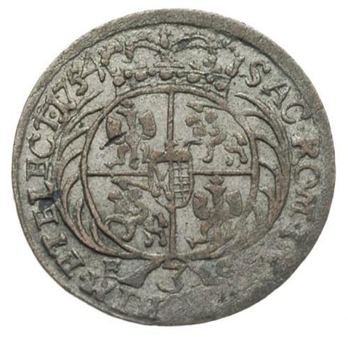 trojak 1754, Lipsk, Iger Li.54.a (R1), dość ładnie zach...