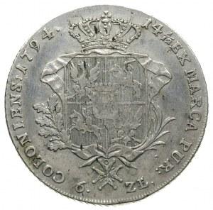 talar 1794, Warszawa, srebro 23.84 g, Plage 373, Dav. 1...