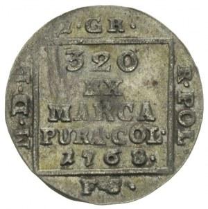grosz srebrny 1768, Warszawa, Plage 220